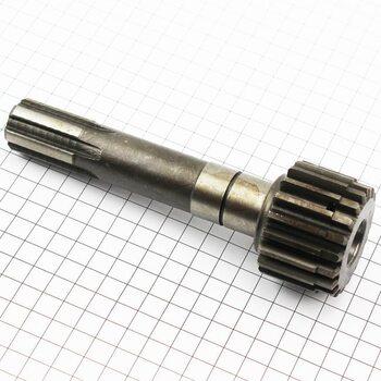 Вал первичный дополнительной КПП L=165мм, Z=6/19 Xingtai (10T.37.110-2)
