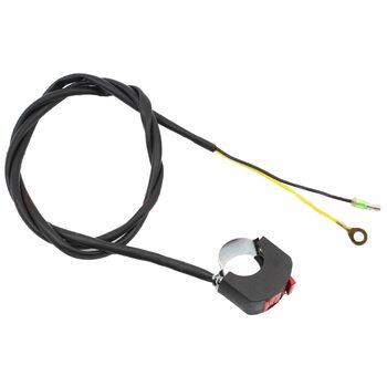 Кнопка остановки двигателя c проводом на руль, два провода 168F/170F/173F/177F/182F/188F/190F Тип №5