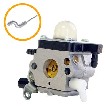 Карбюратор мотокоса FS 55, 45, 38, 85 (Оригинал) - под тросик крючек