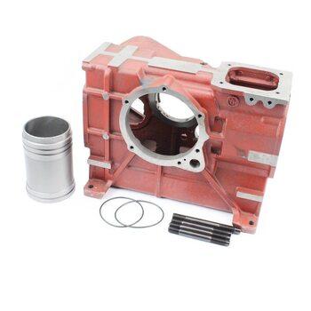 Блок двигателя, поршень 80мм R180NM (длинный)+гильза+шпильки 4шт
