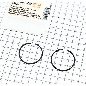 Кольца поршневые 34х1,5мм Stihl FS-38/45/55, OLEO MAC SPARTA 25 ОРИГИНАЛ (41370343000)