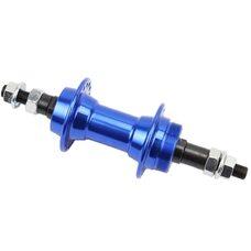 Втулка задняя MTB алюминиевая 14Gx36H под вольнобег, крепл. гайка, синяя